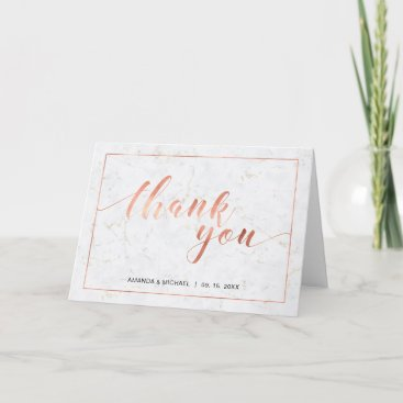 Chic Modern Typography Wedding Thank you note