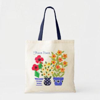 Chic Modern Vases of Flowers Design Tote Bag