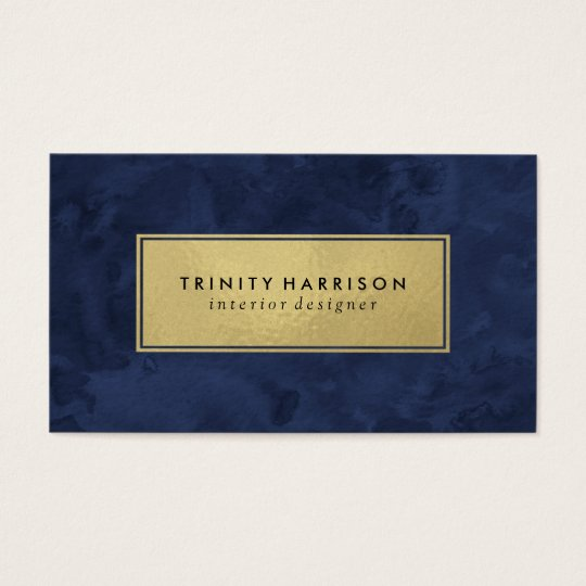 Chic modern watercolor navy blue and gold business card zazzle chic modern watercolor navy blue and gold business card colourmoves Gallery