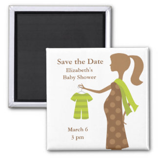 Chic Mom To Be Baby Shower Save the Date Magnets