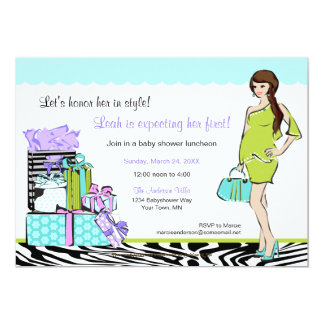 Chic Mom-to-be Shower Invitation 1