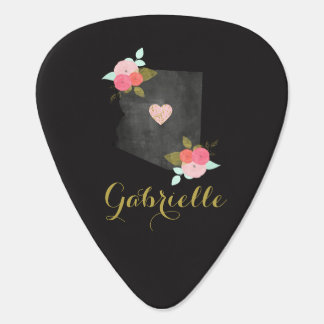 Chic Monogram Arizona State Custom Moveable Heart Guitar Pick