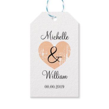 Beach Themed Chic monogram gift tags for stylish wedding favors