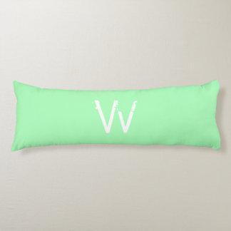 Chic Monogram Mint Green Body Pillow