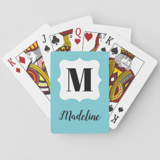 Chic monogram playing cards make a great gift!