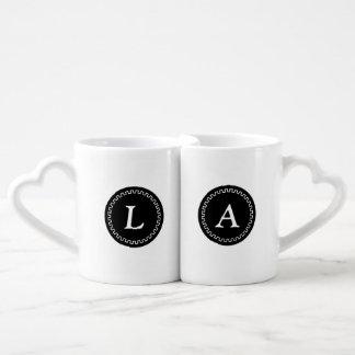 Chic Monogramed Best Half Mug Set Lovers Mug Set