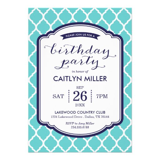 Personalized Moroccan party Invitations CustomInvitations4Ucom