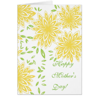 CHIC MOTHER'S DAY CARD_ 33 YELLOW/60 GREEN FLORAL