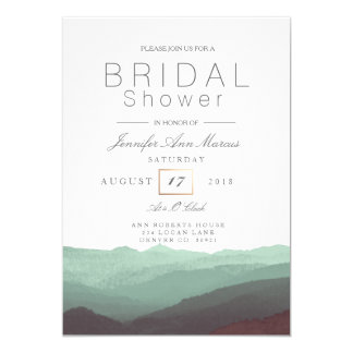 Chic Mountain Watercolor | Bridal Shower Card
