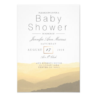 Chic Mountain Watercolor | Pastel Baby Shower Card