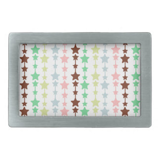 Chic Multicolored Stars Pattern Belt Buckle