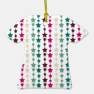 Chic Multicolored Stars Pattern Christmas Ornament