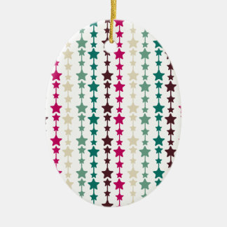 Chic Multicolored Stars Pattern Christmas Tree Ornaments