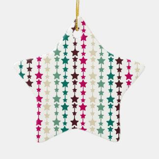 Chic Multicolored Stars Pattern Ornament