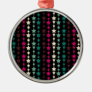 Chic Multicolored Stars Pattern Christmas Ornaments