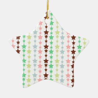 Chic Multicolored Stars Pattern Christmas Tree Ornament