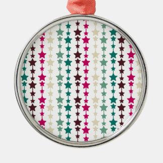 Chic Multicolored Stars Pattern Ornaments