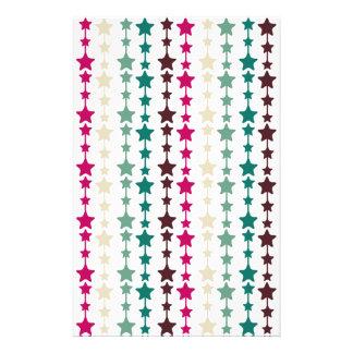 Chic Multicolored Stars Pattern Stationery Design