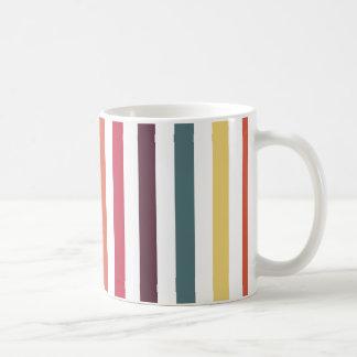 Chic Multicolored Stripes Coffee Mug