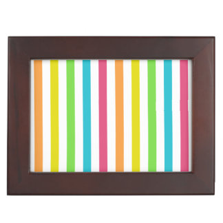 Chic Multicolored Stripes Keepsake Box