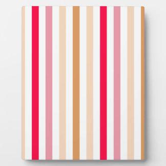Chic Multicolored Stripes Photo Plaque