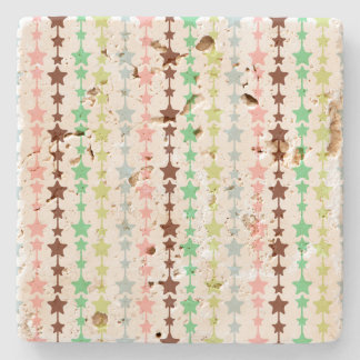 Chic Multicoloured Stars Pattern Stone Coaster