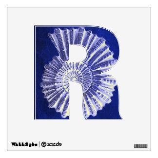 chic navy blue nautical seashells coastal wedding wall sticker