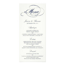Chic Navy & Ivory Wedding Menu Template
