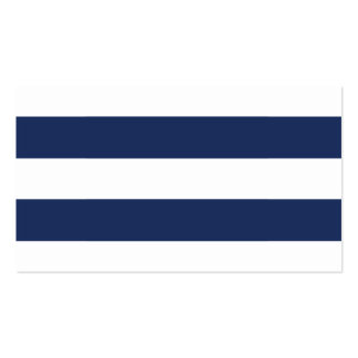 Chic Navy Stripes Guest Escort Cards Double-Sided Standard Business Cards (Pack Of 100)