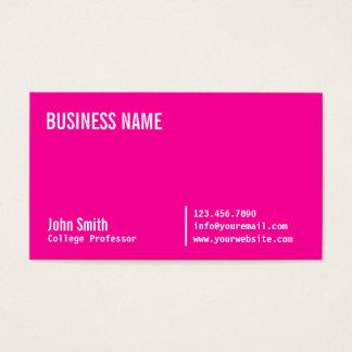 Chic Neon Pink Professor Business Card