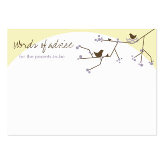 Chic Nesting Bird + Family Baby Shower Advice Card