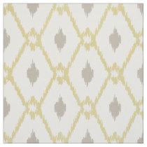 Chic neutral yellow taupe ikat diamond pattern fabric