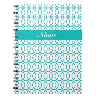 CHIC NOTEBOOK-134 TURQUOISE CIRCLES NOTEBOOK
