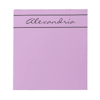 CHIC NOTEPAD_RADIANT ORCHID/BLACK STRIPE NOTEPAD