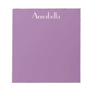 CHIC  NOTEPAD_RADIANT ORCHID WITH NAME NOTEPAD