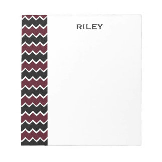 CHIC  NOTEPAD_ZIGZAGS WITH MONOGRAM NOTEPAD