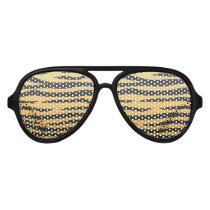 Chic orange and black tiger print aviator sunglasses