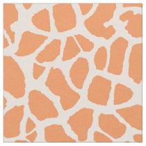 Chic Orange Giraffe Print Girly Animal Pattern Fabric