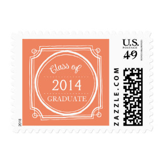 CHIC ORANGE GRADUATE 2014 POSTAGE