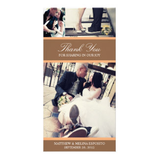 CHIC ORANGE GRATITUDE | WEDDING THANK YOU CARD PICTURE CARD