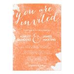 CHIC ORANGE WATERCOLOR WEDDING INVITATION