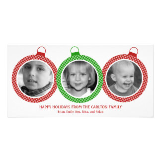 Chic Ornaments Holiday Photo Cards Photo Card Template