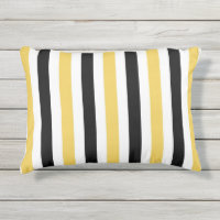 CHIC OUTDOOR PILLOW_YELLOW/BLACK/WHITE STRIPES OUTDOOR PILLOW
