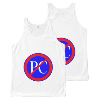 CHIC OVERALL DESIGN TOP_ANTI POLITICAL CORRECTNESS All-Over-Print TANK TOP