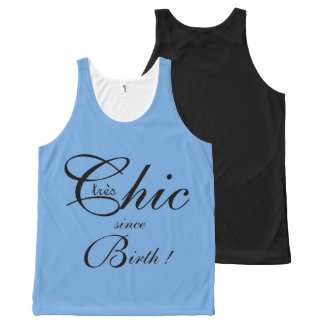 CHIC OVERALL DESIGN TOP_tres Chic_153 BLUE/BLACK All-Over Print Tank Top