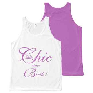 CHIC OVERALL DESIGN TOP_tres Chic_215 LAVENDAR All-Over Print Tank Top