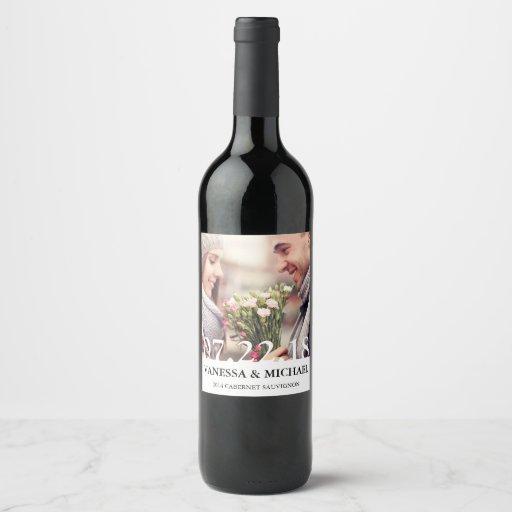 Chic Overlay | Wedding Favor Photo Wine Labels