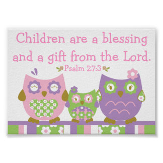 Chic Owls Christian Bible Verse Poster