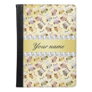 Chic Owls Faux Gold Foil Bling Diamonds iPad Air Case