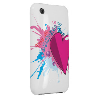 Chic Paintball with Heart Case Mate Case Case-Mate iPhone 3 Cases